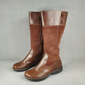 Dansko Delilah brown tall boots